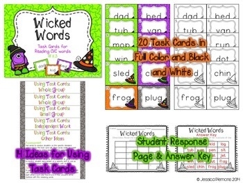 Halloween Task Cards: Wicked Words