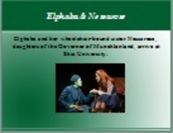 Wicked by Gregory Maguire Intro Powerpoint