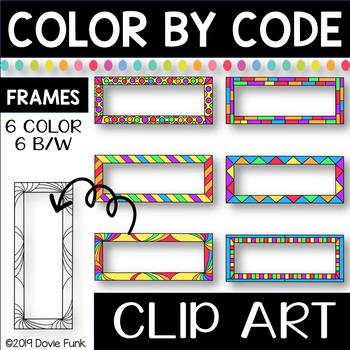Wide Frames Designs Color by Code Clip Art