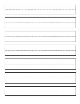 Wide Lined Paper with boxes