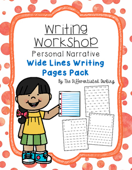 Writing Workshop Wide Lines Page Pack