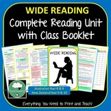 Wide Reading Booklet for Junior Secondary Reading Log Reading Responses Tasks