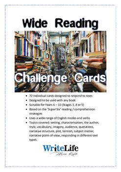 Wide Reading Challenge Cards