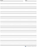 Wide Rule Vertical Handwriting Paper