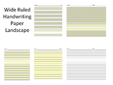 Wide Ruled Handwriting Paper (Highlight, Highlights, Highlighted) (OT)