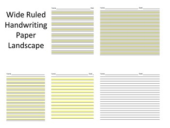 photograph about Wide Ruled Paper Printable identified as Large Rule Protected Paper Worksheets Coaching Elements TpT