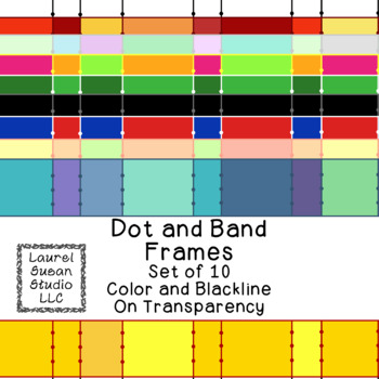 Wide Stripe Frames Clip Art PNG JPG Blackline Included Commercial or Personal