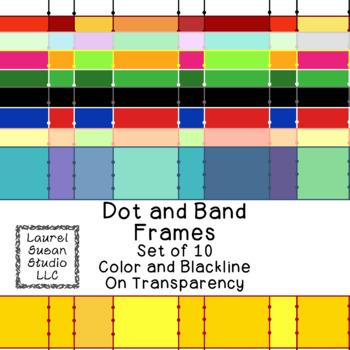 Wide Stripe Frames Clip Art PNG JPG Blackline Included Com