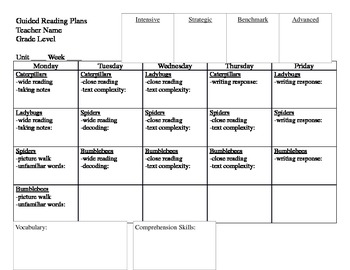 Guided Reading Lesson Plan Format {Common Core based}