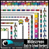 Widescreen 16:9 Back to School Colored Borders - Google Slides™ and PowerPoint™