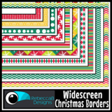Widescreen 16:9 Christmas Borders - Google Slides™ and PowerPoint™