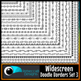 Widescreen 16:9 Doodle Borders Clip Art Set 3 - Google Slides™ and PowerPoint™