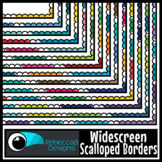 Widescreen 16:9 Multi Color Scalloped Borders - Google Slides™ and PowerPoint™