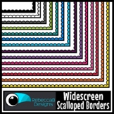 Widescreen 16:9 Solid Color Scalloped Borders - Google Slides™ and PowerPoint™