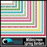 Widescreen 16:9 Spring Borders - Google Slides™ and PowerPoint™