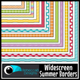 Widescreen 16:9 Summer Borders - Google Slides™ and PowerPoint™