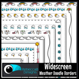 Widescreen 16:9 Weather Colored Doodle Borders - Google Sl