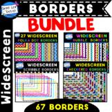 Widescreen Borders Bundle 16:9 for Google Slides & Powerpoint