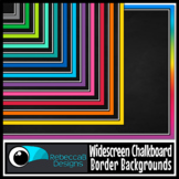 Widescreen Chalkboard Border 16:9 Backgrounds - Google Slides™ and PowerPoint™