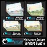 Widescreen 16:9 Season Border Backgrounds Clip Art Bundle