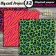 Wild animal DIGITAL PAPERS - Safari scrapbooking - Bright colors leopard & zebra