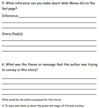Widow's Broom Drawing Inference, Author's Purpose, Theme Comprehension Guide