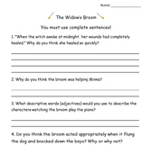 Widow's Broom Drawing Inference, Author's Purpose, Theme C