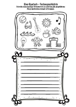 Wie waren deine Ferien? German Worksheet Back to School activity Deutsch