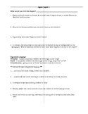 Wiesel's Night Reading Questions and Chart