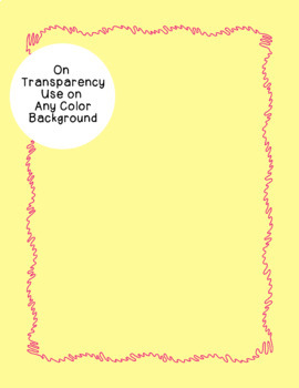 Wiggle Borders Clip Art PNG JPG Blackline Included Commercial or Personal