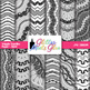 B&W Wiggle Doodles Paper {Scrapbook Backgrounds for Task Cards & Brag Tags}