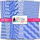 Blue Wiggle Doodle Paper | Scrapbook Backgrounds for Task Cards & Brag Tags