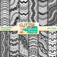 Wiggle Doodles Paper Clip Art BUNDLE {Scrapbook Backgrounds for Resources}