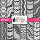 Wiggle Doodles Paper Clip Art BUNDLE   Scrapbook Backgrounds for Resources