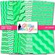 Green Wiggle Doodle Paper {Scrapbook Backgrounds for Task Cards & Brag Tags}