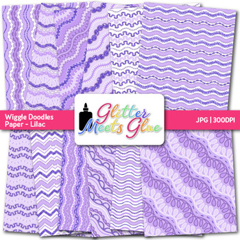 Lilac Wiggle Doodle Paper {Scrapbook Backgrounds for Task Cards & Brag Tags}