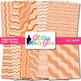 Orange Wiggle Doodle Paper | Scrapbook Backgrounds for Task Cards & Class Decor