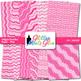 Pink Wiggle Doodle Paper | Scrapbook Backgrounds for Task Cards & Brag Tags