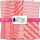 Red Wiggle Doodles Paper | Scrapbook Backgrounds for Task Cards & Brag Tags