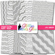 Silver Wiggle Doodle Paper {Scrapbook Backgrounds for Task Cards & Brag Tags}