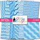 Sky Blue Wiggle Doodle Paper | Scrapbook Backgrounds for Task Cards & Brag Tags