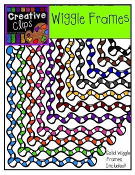Wiggle Frames {Creative Clips Digital Clipart}