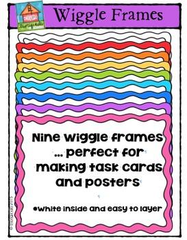 Wiggle Frames {P4 Clips Trioriginals Digital Clip Art}