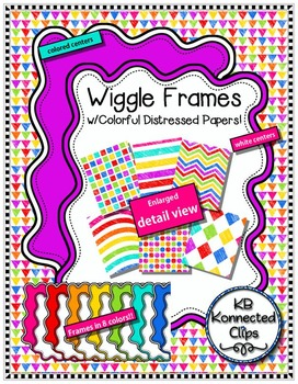 Wiggle Frames with Colorful Distressed Papers