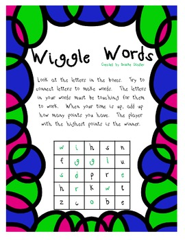 Wiggle Words Word Game- Unit 3