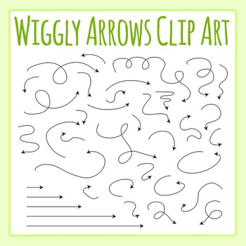 Wiggly Arrows Clip Art for Commercial Use