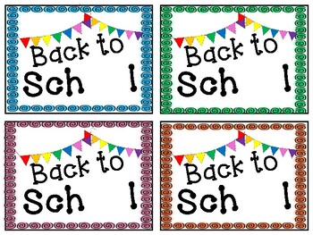 Wiggly Eye Tags-Back to School