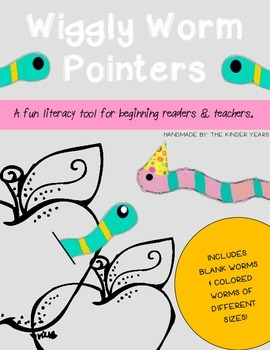 Wiggly Worm Pointers- Literacy Tool for Beginning Readers & Teachers