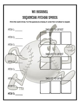 Wii Baseball Sequencing Numbers