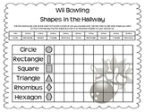 Wii Bowling 2D Shapes